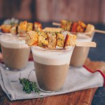 Weihnachtsvorspeise: Pilz-Cappuccino