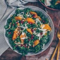 Kale Salat mit Orange und Fenchel