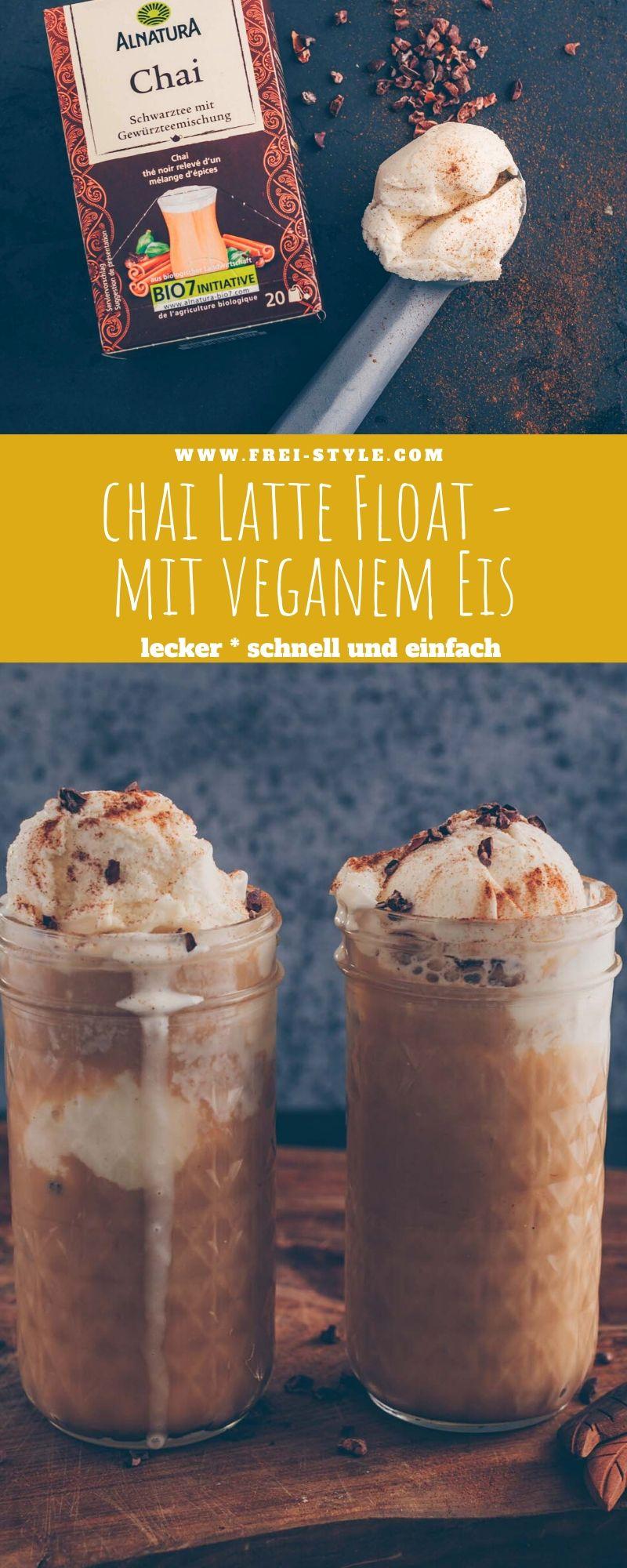Veganer Chai Latte Float