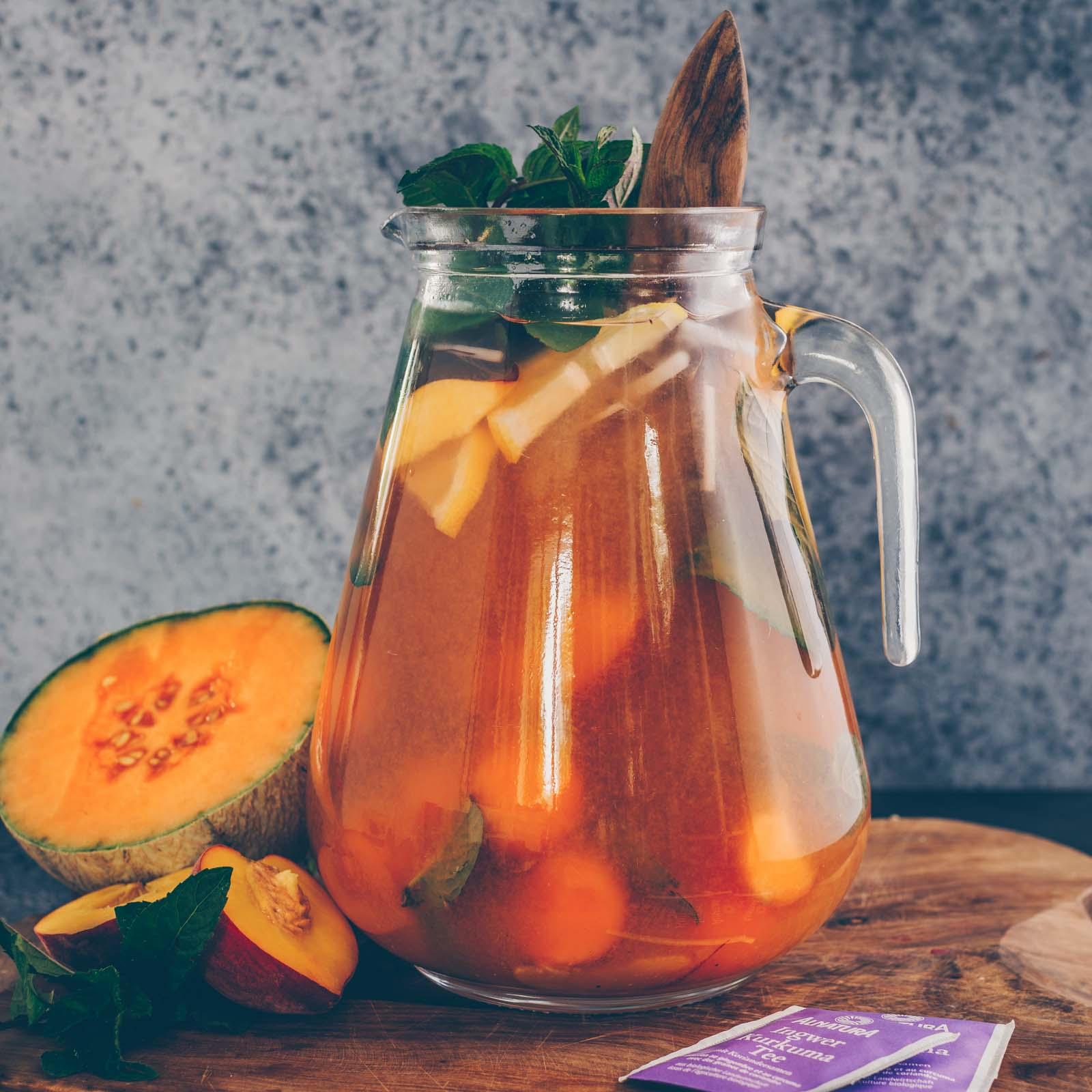 Pfirsich Melonen Eistee