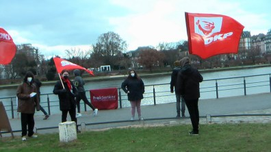 Am Frankfurter Mainufer: Gedenken an die Ermordung von Rosa Luxemburg und Karl Liebknecht