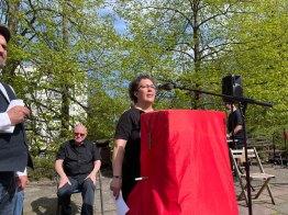 Gedenkstätte Seelower Höhen, 9. Mai 2021: Isabelle Czok-Alm von der Partei DIE LINKE