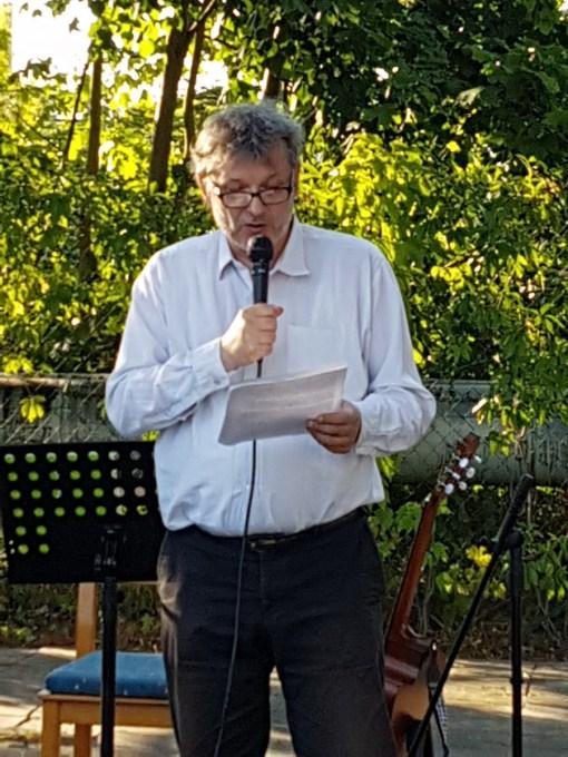 Klaus Linder während seiner Rede