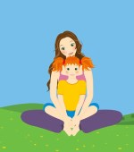 Mama-Kleinkind-Yoga ist Yoga für Kinder im Alter von 1-3 Jahren und deren Mama oder Papa: Rückbildungstraining und wieder fit werden!