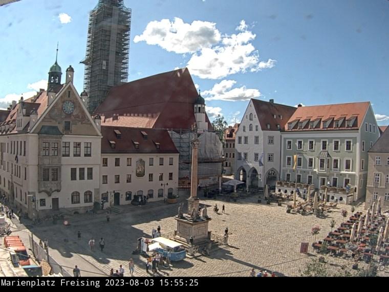 Livebild vom Marienplatz Freising