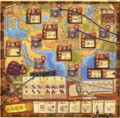 Spielplan Auf den Spuren von Marco Polo