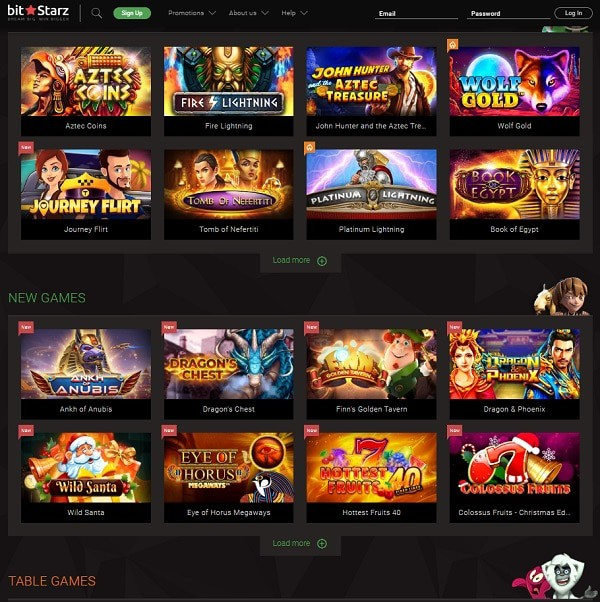 BitStarz Slots, Table Games, Live Dealer, Jackpots