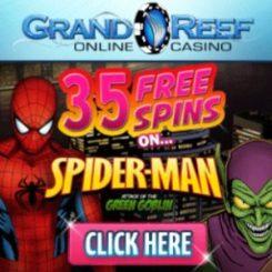Grand Reef Casino | 35 gratis spins + 1000% bonus + €5000 free