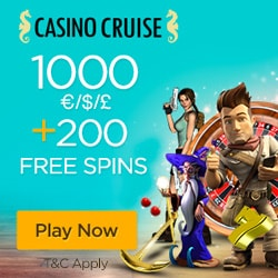 Casino Cruise Review: €1000 free bonus + 200 gratis spins on slots