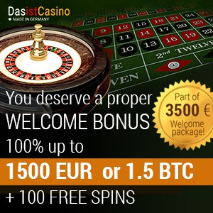 Das Ist Casino 250 free spins   300% up to €3500 (3.5 btc) free bonus