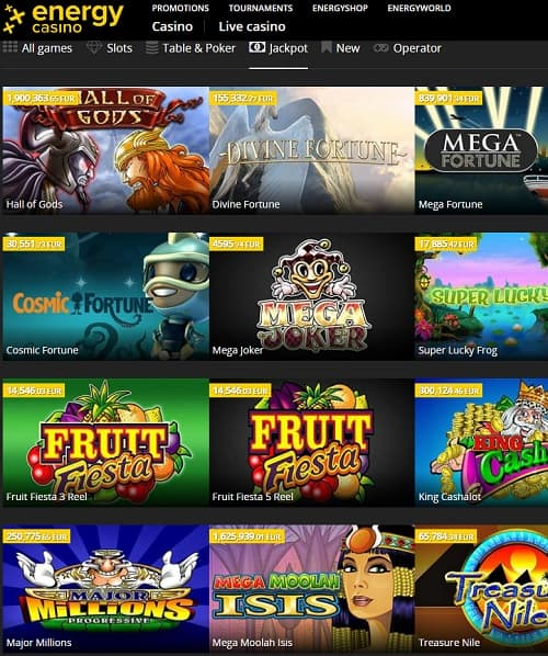EnergyCasino Online Casino Review