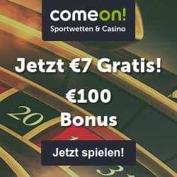 ComeOn Casino 7€ gratis freispiele bonus ohne einzahlung