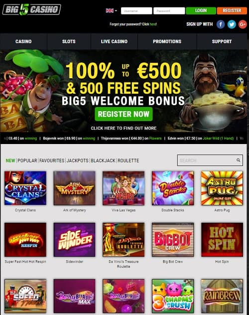 Big5 Casino free spins