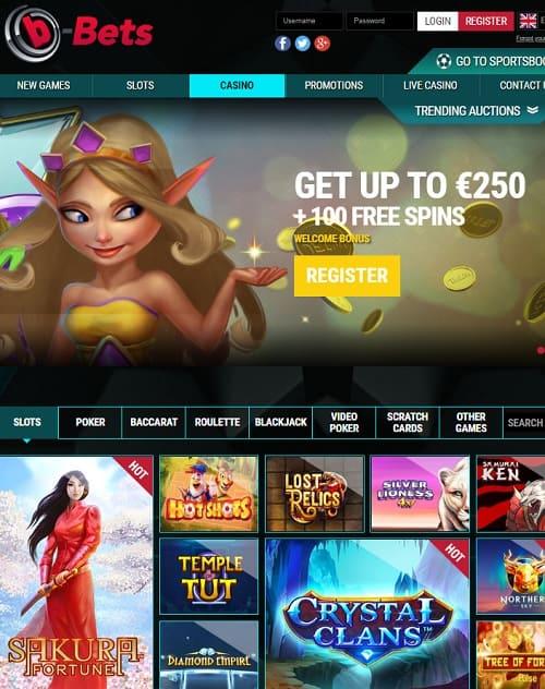 b Bets Casino free play bonus
