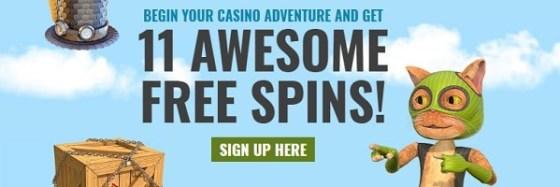 Casino JEFE 11 gratis spins no deposit required
