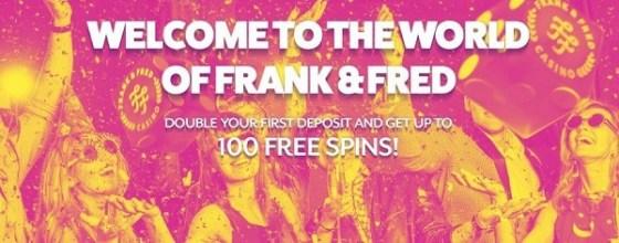Frank & Fred Casino 100 gratis spins bonus