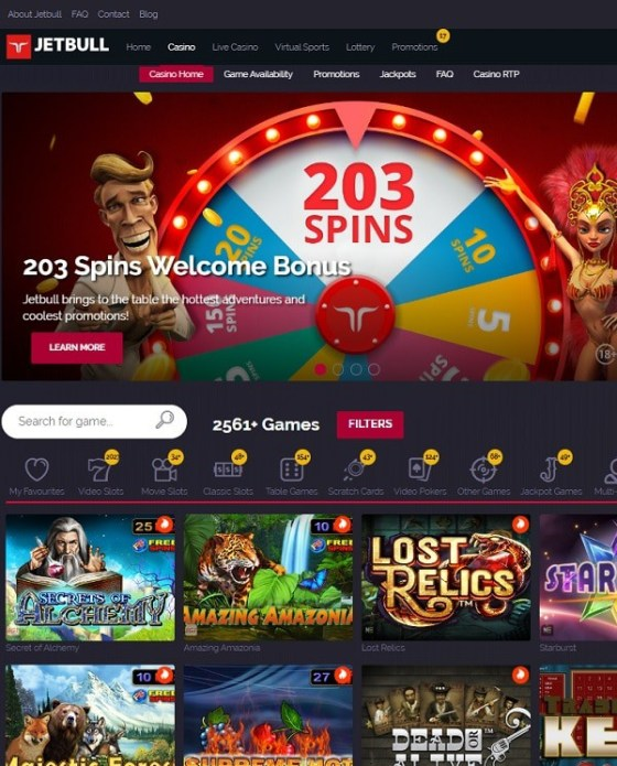Jetbull Casino free spins bonus