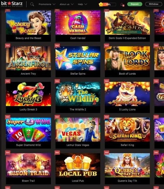 Bitstarz.com popular games