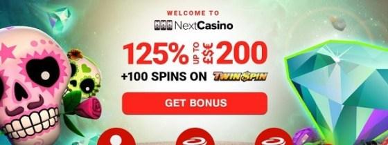 Next Casino exclusive bonus