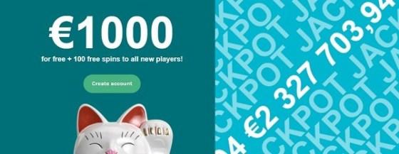 LuckyDays 100 free spins and 1000 EUR gratis bonus