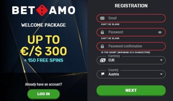 Betamo Casino Free Spins & Bonus Money!