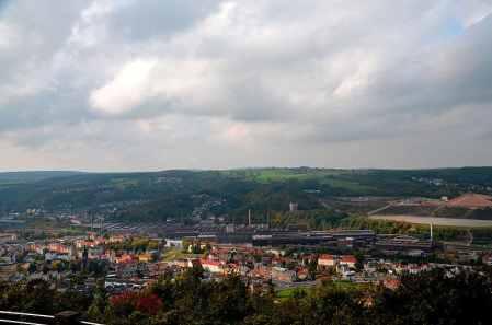 Blick auf die Stadt Freital