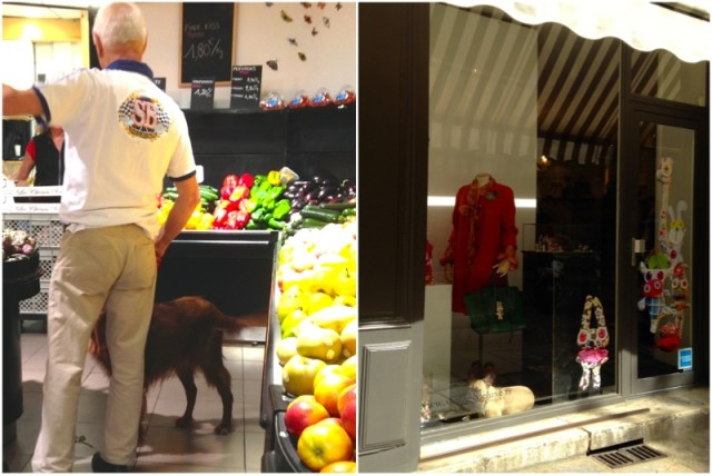 Fazendo compras no mercado e compondo a vitrine