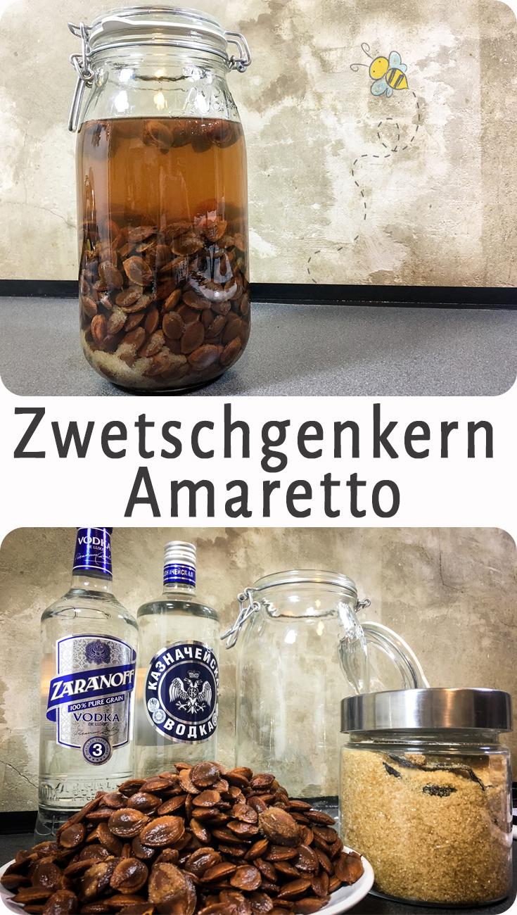 Zwetschgaretto Zwetschgenkern Amaretto - Für alle die gern Marmelade machen und die Kerne sonst einfach wegschmeissen. Nicht! Daraus kann man unglaublich guten Amaretto machen.
