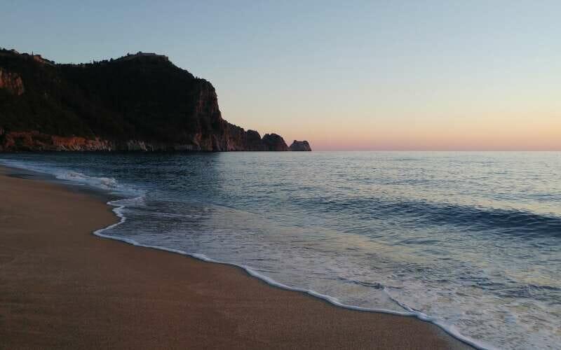 Alanya Küste Sonnenuntergang