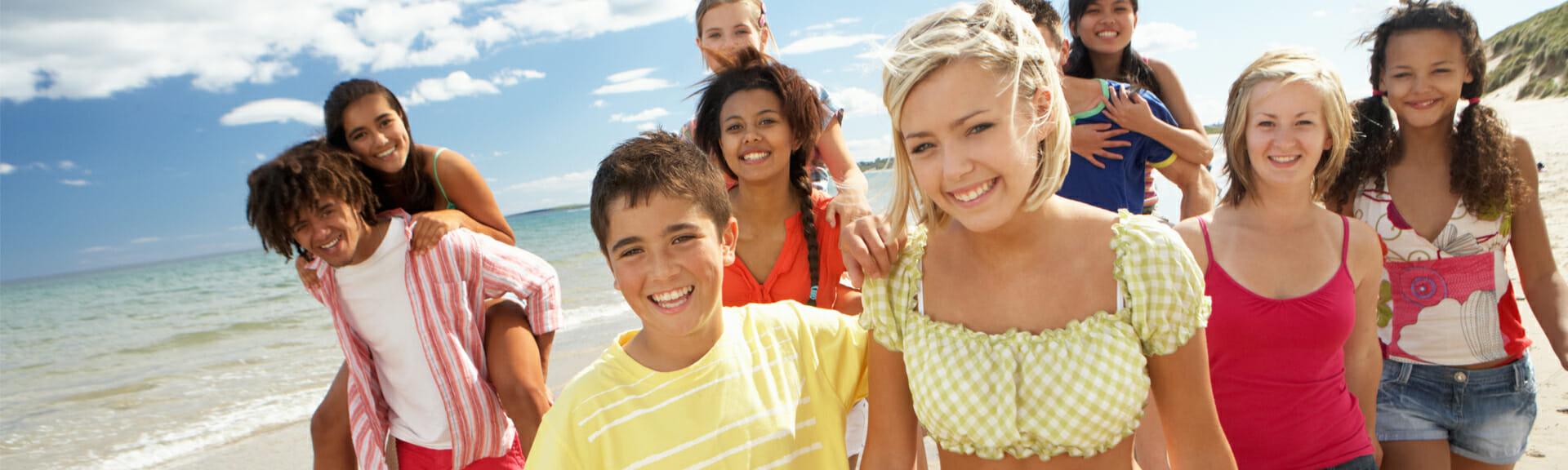 Klassenfahrt Costa Brava Schüler haben Spaß