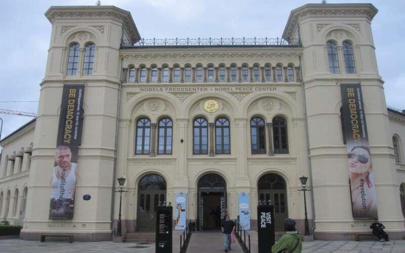 Klassenfahrt Oslo Nobelfriedenszentrum Fassadenansicht