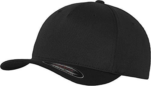 Flexfit 5 Panel Baseball Cap - Unisex Mütze, Kappe für Herren und Damen, einfarbige Basecap, rundum geschlossen - Farbe black, Größe S/M