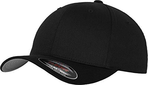 Flexfit Unisex Wooly Combed Unisex Kappe ohne Verschluss für Herren, Damen und Kinder Wooly Combed Baseball Cap, Black, L/X-Large (Herstellergröße: L/X-Large)
