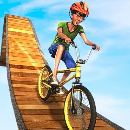 Unmögliche BMX verrückte Fahrer-Zyklus-Bremsungs-Spiele: Schmutz-Fahrrad-Rennfieber-Proeil-Rush 3D Abenteuer-Simulator 2018