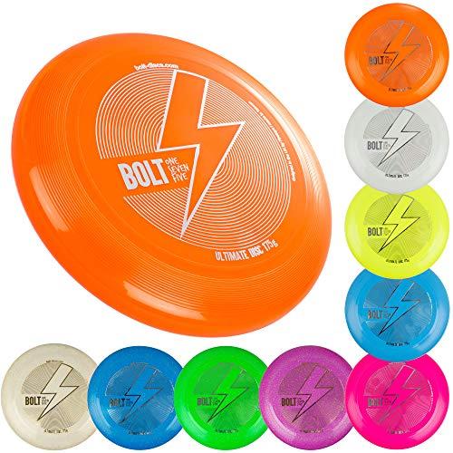 BOLT OneSevenFive Ultimate Frisbee Flying Disc! Fünf UV-Farben verfügbar! (Geister Schimmernn)