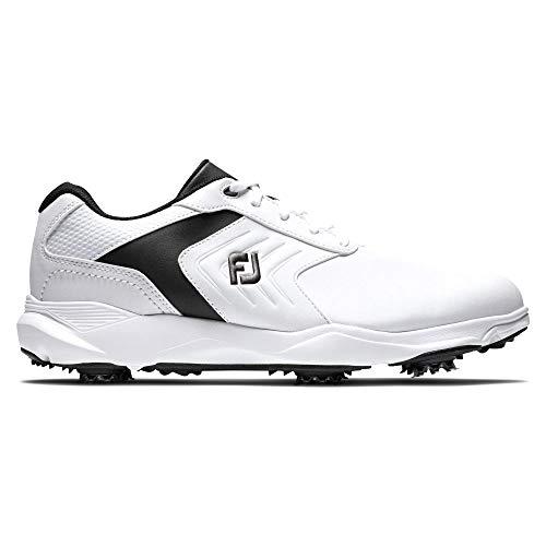 Footjoy Herren Ecomfort Golfschuh, Blanco/Negro, 46 EU