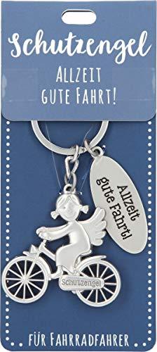 Depesche 11343-010 Schutz-Engel Schlüssel-Anhänger für Männer und Frauen aus Metall, Glücksbringer für Fahrrad-Fahrer, ideal als kleines Geschenk für die Liebsten unterwegs