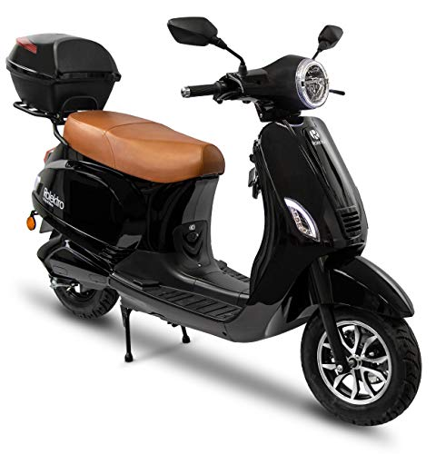 Rolektro Retro 45 km/h V.2021 Elektroroller - 2000W E-Scooter 60km Reichweite E-Roller mit Straßenzulassung LED-Licht Lithium-Akku