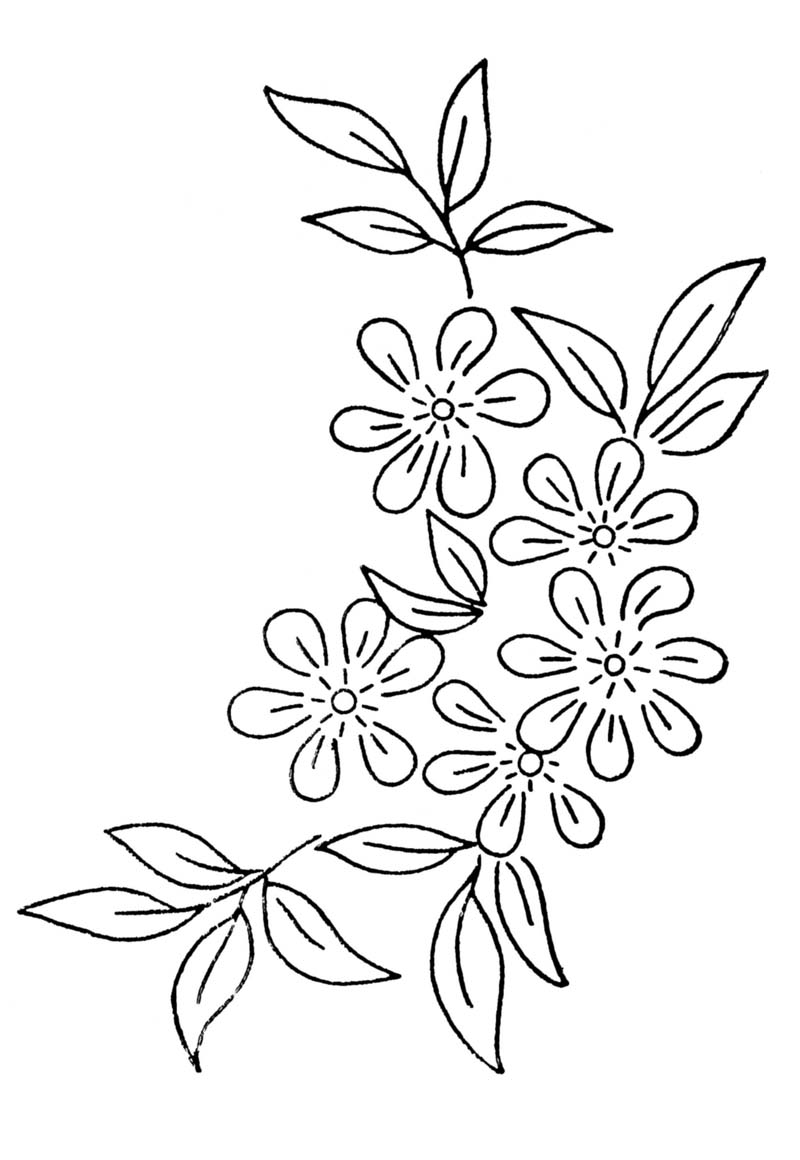 free embroidery transfer patterns vintage flowers