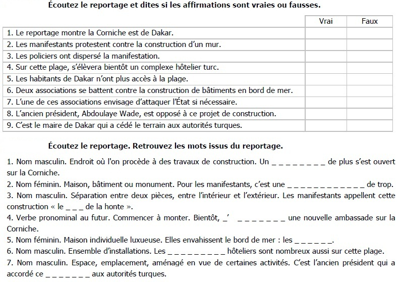Reading Comprehension in French -