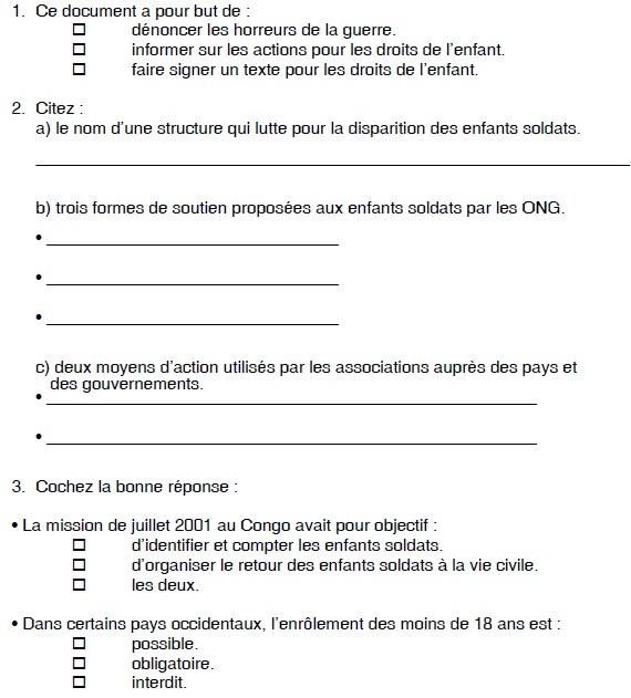 questions in French