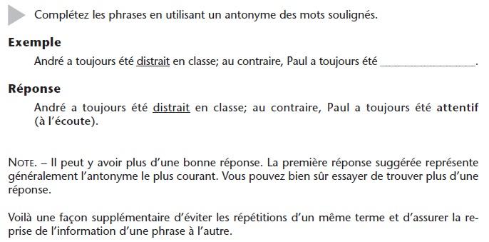 French_Vocabulary_Exercise_3