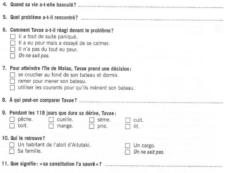 french reading exercise perdu en mer level b1 online french language support. Black Bedroom Furniture Sets. Home Design Ideas