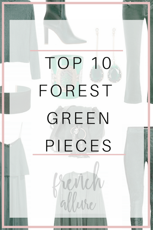 Top 10 forest green pieces