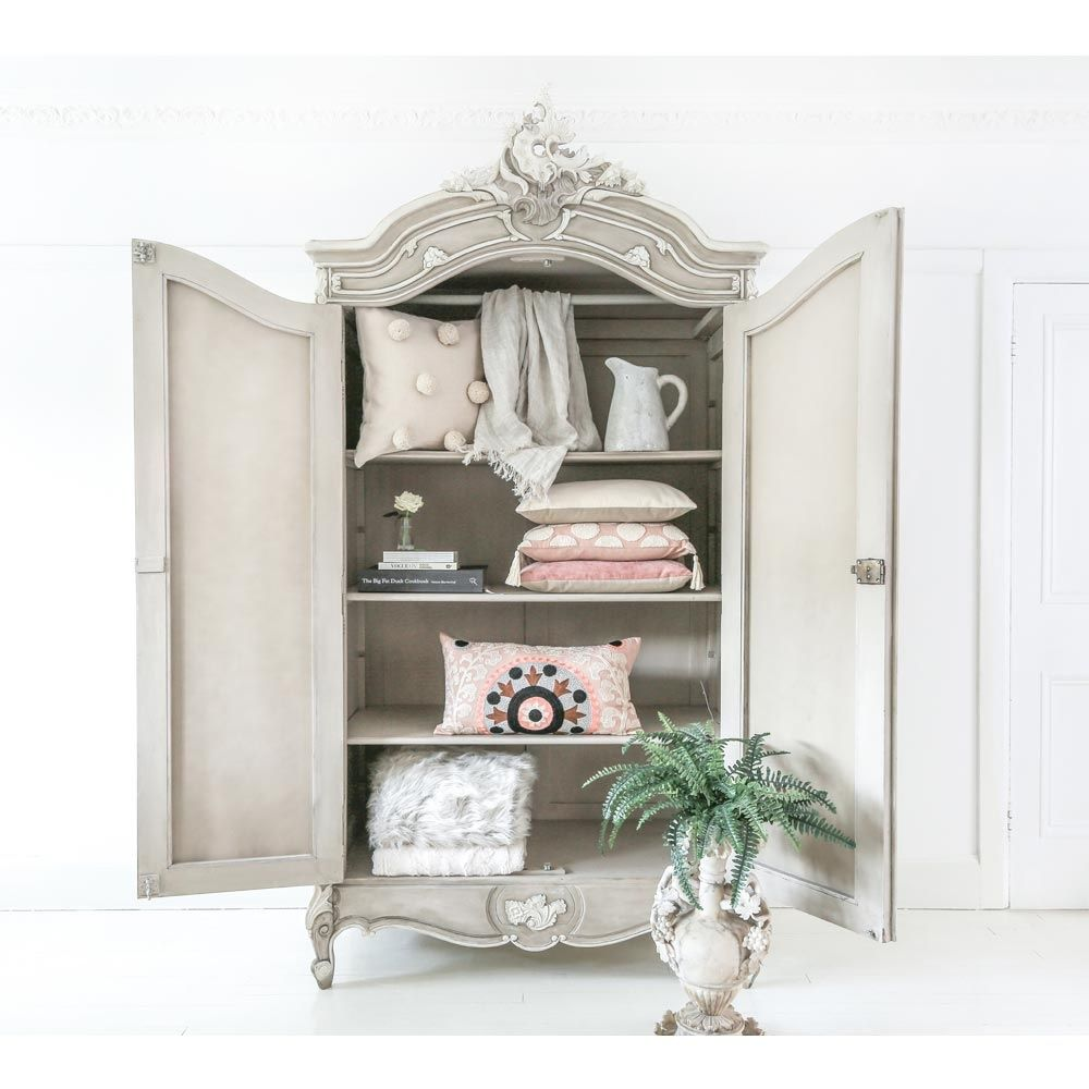 amour 2 door mirror fronted french armoire