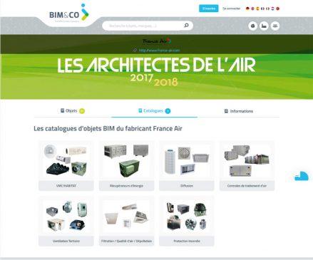 Le catalogue France air est disponible sur la plateforme de BIM&Co