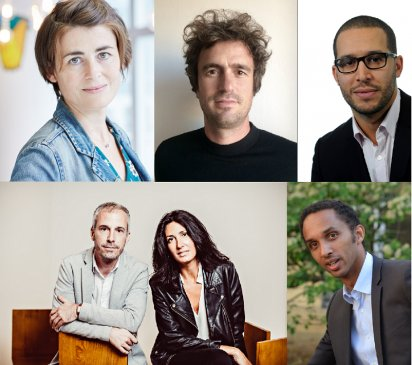 De gauche à droite : Céline Mallet, Nicolas Détrie, Ivan Mietton et Giovanna Carrer, Jaouad Ouahi et Nathanaël Mathieu.