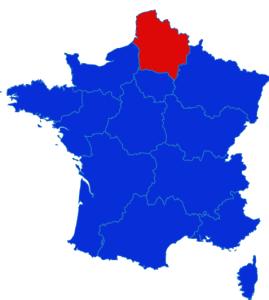 Hauts de France map
