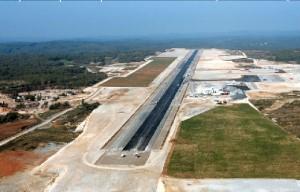 Brive/Souillac airport under construction