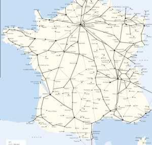Railways in France Map